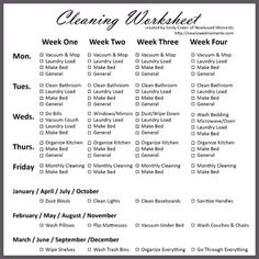2 hour house cleaning checklist for the home pinterest house