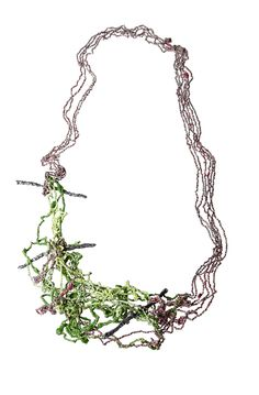 Liana Pattihis. Necklace: Emilia. Silver trace chain, enamel. Part of: Gioielli in Fermento 2016 - Premio Torre Fornello VI edition.