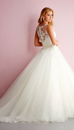 Lace princess ~ Allure Romance Spring 2014 Bridal Collection | bellethemagazine.com