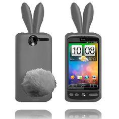 Bunny (Harmaa) HTC Desire G7 Silikonisuojus