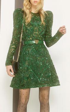 Elie Saab - Beaded Embellished Mini Dress