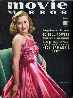 March 1940 Movie Mirror-- Priscilla Lane