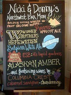 Tell them what to drink. #bar #menu #chalkboard