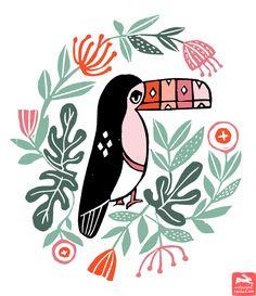 Ink Print Repeat :: Andrea Lauren - Linocut