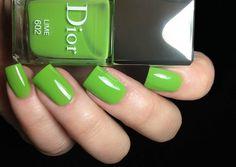 Fashion Polish: Dior Croisière for Spring 2013 : Mango, Pastèque and Lime! Dior Nail Polish, Nail Polish Style, Dior Nails, Crazy Nails, Love Nails, Paws And Claws, Pretty Nail Art, Nail Inspo, You Nailed It
