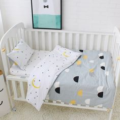 duvet/sheet/pillow Enthusiastic With Filling Cartoon Baby Bedding Kit Crib Bedding Set Piece Baby Bed 100% Cotton