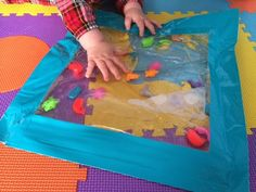 DIY Water Mat: D&J and our two MissEe maam's. Sensory Baby life