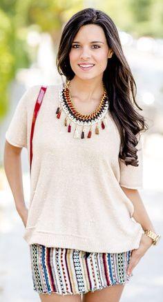 Diy Necklace With Tassels by Crimenes De La Moda