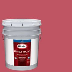 Glidden Premium 5 gal. #HDGR34 Red Red Rose Satin Interior Paint with Primer