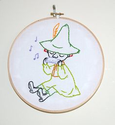 Items similar to Snufkin on Etsy Embroidery Hoop Art, Cross Stitch Embroidery, Embroidery Patterns, Diys, Moomin Valley, Cross Stitching, Needlework, Arts And Crafts, Crafty