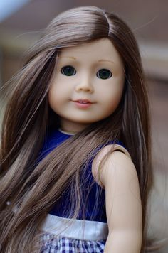 American Girl Doll Custom Carolline Marie-Grace wig and new green eyes OOAK #DollswithClothingAccessories