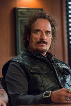 Sons of Anarchy, SAMCRO, SOA, bikers, brothers, family, great tv, Tig, beard, powerful face, intense eyes, portrait, photo