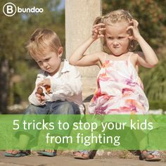 When raising kids, sibling rivalry seems to come with the territory. Luckily, we have 5 tricks to help you stop your kids from fighting!