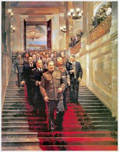 "Painting by Dmitry Nalbandian - ""State Reception in the Kremlin on May Soviet Art, Soviet Union, Super Pictures, Funny Pictures, Joseph Stalin, Communist Propaganda, Warsaw Pact, Socialist Realism, Stoner Art"