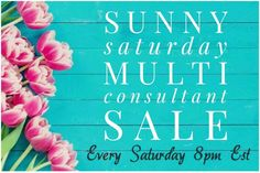 It's the weekend.. and time for a super multi-consultant Sunny Saturday Sale! Come join me and browse through a lot of LuLaGoodies! You might find that unicorn 🦄 you have been searching for 😊 https://www.facebook.com/groups/SunnySaturdayLularoeMultiConsultantSale/