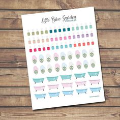 Spa Day PDF and JPG PRINTABLE Planner Stickers for Planners-Instant Download, Personal and Commercial Use