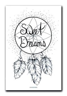 Poster Sweet dreams A4