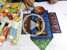 Mural Art Video Tutorials - by Muralguru Bharat Rawal Salt Painting, Diy Wall Painting, Mural Painting, Mural Art, Ceramic Painting, Murals, Painting On Glass Windows, Clay Wall Art, Clay Art Projects