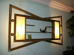 And it lights up!  A shadowbox AND a lamp!  Gorgeous!!