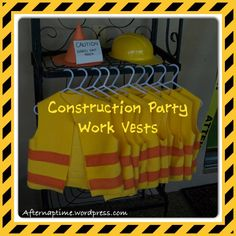 When coming up with ideas for my son's fourth birthday, I decided to go with a construction theme. What better than construction vests to help with their imaginary play. I was unsure how many kids . Construction Theme Classroom, Construction For Kids, Construction Birthday Parties, Construction Party Games, Construction Business, Construction Design, Construction Worker, Fourth Birthday, 4th Birthday Parties