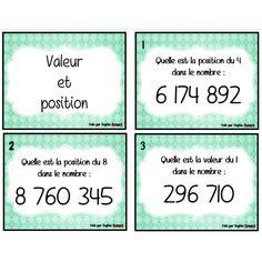 cartes à tâche - valeur et position