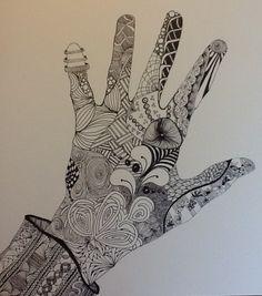Zentangle by Kim C.  Hand doodling