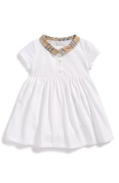 Burberry 'Orla' Short Sleeve Dress (Baby Girls) available at #Nordstrom