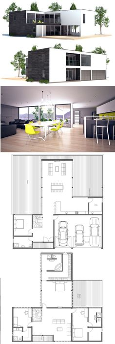 Container House - Maison Minimalsite - Who Else Wants Simple Step-By-Step Plans To Design And Build A Container Home From Scratch? Sims House Plans, New House Plans, Modern House Plans, Small House Plans, House Floor Plans, Building A Container Home, Container House Plans, Container Homes, Building Design