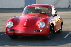 Visit The MACHINE Shop Café... ❤ Best Porsche's @ MACHINE ❤ (The Red PORSCHE 356 Coupé)