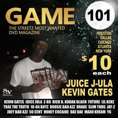 GET YOUR COPY NOW!! MARCO POLO VIDEO RELEASED ON THAT GAME 101 DVD EDITION!! $10 each For 10+ DVD Orders Email wearestreetvibes@gmail.com NOW!! #Marcopolo #Video #Juicejula #Wearethestreets #wearestreetvibes #wearestreetcandy #Dvd #Magazine #game101 #Faceworld.com #faceworld #Kevin #Gates #RickB #Streetvibes #streetmusic #SupportMarcopolo