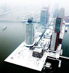 Winter at Wilhelminapier in Rotterdam - The Netherlands