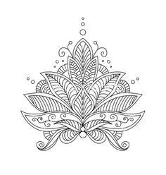 Lotus Mandala Black And White Tattoo Flower, henna, lotus and