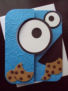 Cookie Monster Punch Art with Circle Card Thinlit Die - Paper Ecstasy #stampinup #punchart