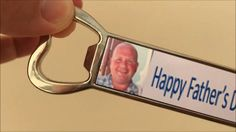 Fantastic personalised bottle opener gift. See what it looks like. Available at www.personalisewise.com