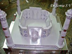 Cards ,Crafts ,Kids Projects: Taj Mahal Paper Model