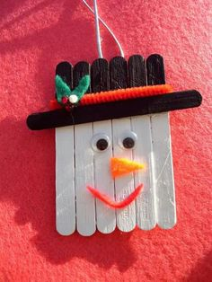 Silly snowman. Popsicles. By Rebeca B