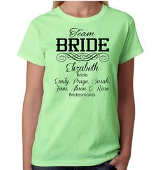 Team Bride Bachelorette T-Shirts 30 Quantity on Etsy, $320.00