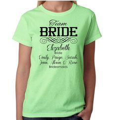 Team Bride Bachelorette T-Shirts 30 Quantity on Etsy, $320.00