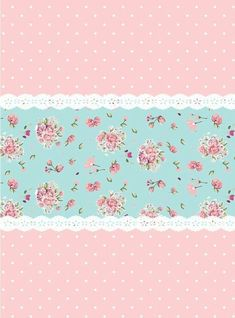 floral scrapbook paper background images aqua and pink Decoupage Vintage, Vintage Paper, Scrapbooking, Scrapbook Paper, Flowery Wallpaper, Shabby Chic Wallpaper, Tiffany Rose, Diy And Crafts, Paper Crafts