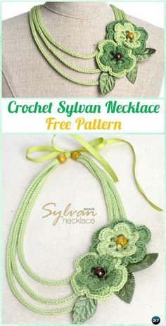 Crochet Sylvan Necklace Free Pattern  - #Crochet; #Jewelry; Necklace Free Patterns