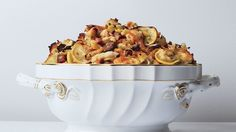 IF YOU LIKE STUFFING WITH SMOKED OYSTERS, YOU'LL LIKE IT EVEN MORE WITH TART LEMONS ON TOP.