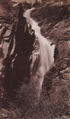 GEORGE FISKE  1835 - 1918 Cascade Falls. Yosemite Valley. ca. 1880s