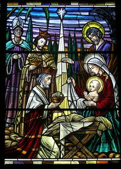 Holy Family stained glass | glasses