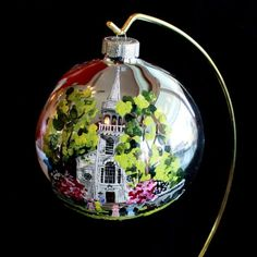 Hand Painted Christmas Ornament Church by reneesprettypainted, $24.95