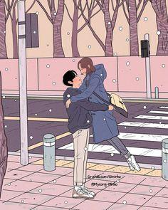 18 Ideas For Love Art Drawing Couples Cartoon Cute Couple Comics, Cute Couple Art, Anime Love Couple, Couple Cartoon, Cute Couple Drawings, Cool Drawings, Pencil Drawings, Couple Illustration, Illustration Art
