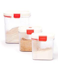 Another great find on #zulily! Flour, Brown Sugar & Powdered Sugar Keeper Set #zulilyfinds