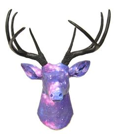 This Purple Galaxy Stag Bust Wall Décor is perfect! Galaxy Pattern, Flea Market Finds, Fleas, Antlers, Picture Wall, Fabric Patterns, Deer, Moose Art, Wall Decor