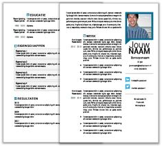 MOOICV - 2 Pagina CV templates