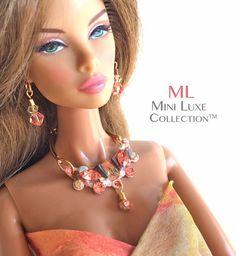 OOAK Fashion Doll Jewelry - Swarovski crystal -  Fashion Royalty dolls, Barbie, Silkstone Barbie, Poppy Parker