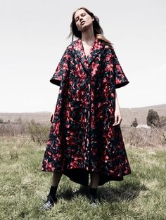 Laura Julie wearing Delpozo FW15 Collection, Vogue China September 2015 issue.